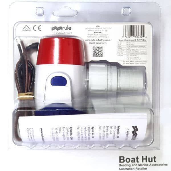 Rule 1100 Bilge Pump 12 Volt 27DA Retail Back