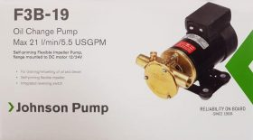 132183 SPX Johnson Oil Change Impeller Pump F3B-19 21 L/min 24 Volt Bronze