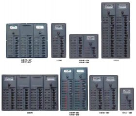 113192 BEP 'Contour' Circuit Breaker Panels - with Analogue Meter 24 Circuits 239x385mm 24V