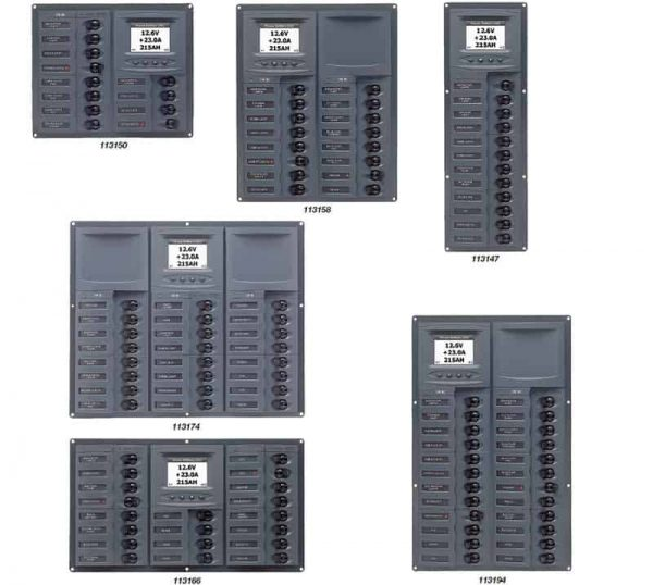 Marnico Switch  Panel 12Cb Vert 12V Digital