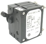 BEP Breaker Reverse Polarity D-Pole 15A