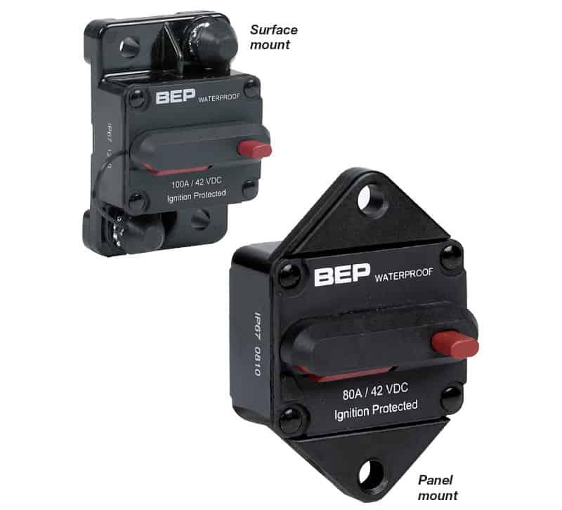 BEP Circuit Breaker H/D Reset Surf Mnt 50A