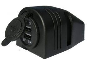 Power Socket Usb X 2 Top Mount 12-24V
