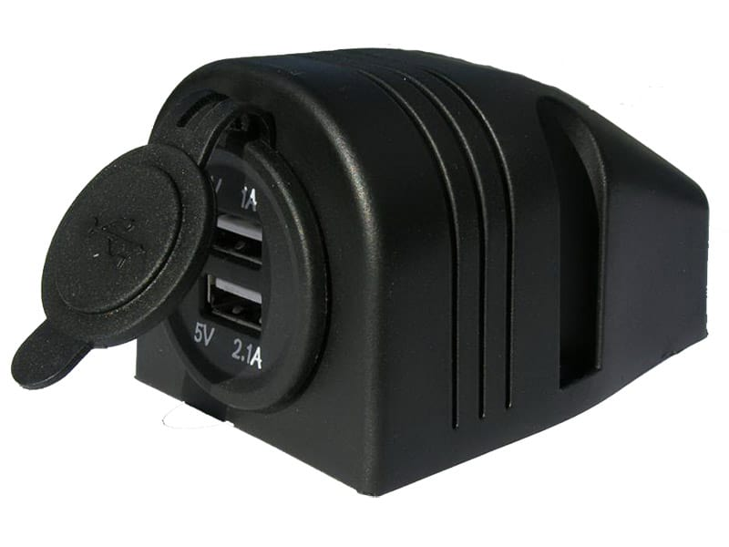 Power Socket Usb X 2 Top Mount 12-24V