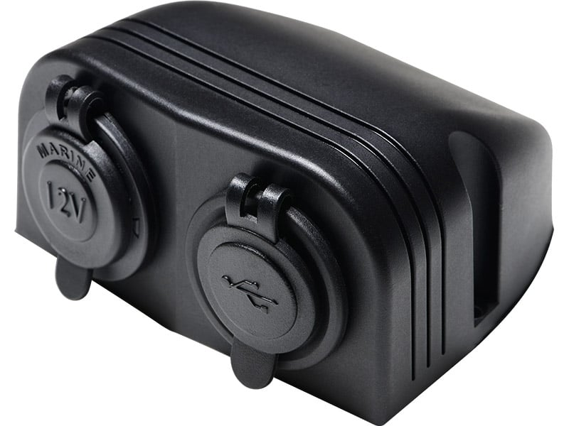 Power Socket Usb X 2 + Pwr SKit Top 12V