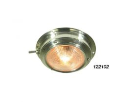 122110 Dome Lights - Stainless Steel Red and White Light 3 way Switch 165mm