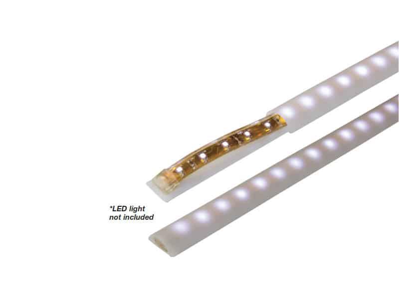 D Profile Cover  Led Strip Lght 100Cm