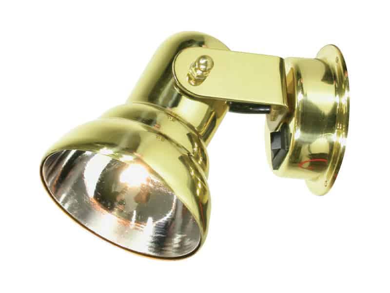 Light Bulkhead Brass Hal Tog Sw 12V 10W