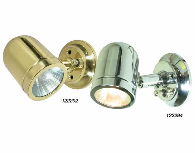 Light Bulkhead Brass Hal Rot Sw 12V 10W