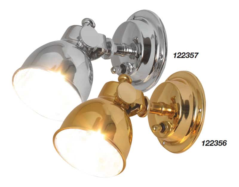 Light Bulkhead Brass Halogen Rocker Switch 12V 10W