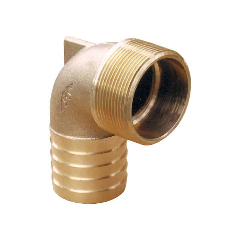 Hose Tail Elbow Bronze 32mm X 1 1/4 Bsp