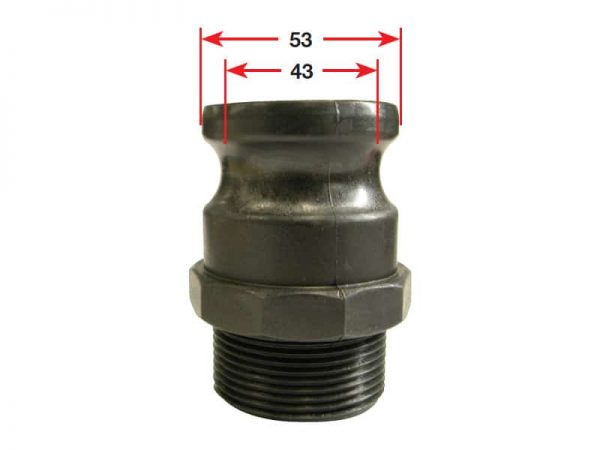 TMC Camlock Adaptor Poly Type 40 X 1 1/2 Bsp