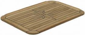 Table Teak Nautic Star Soft Sqre 60X37Cm