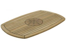 Table Teak Nautic Star Crcl Fold 93X61Cm