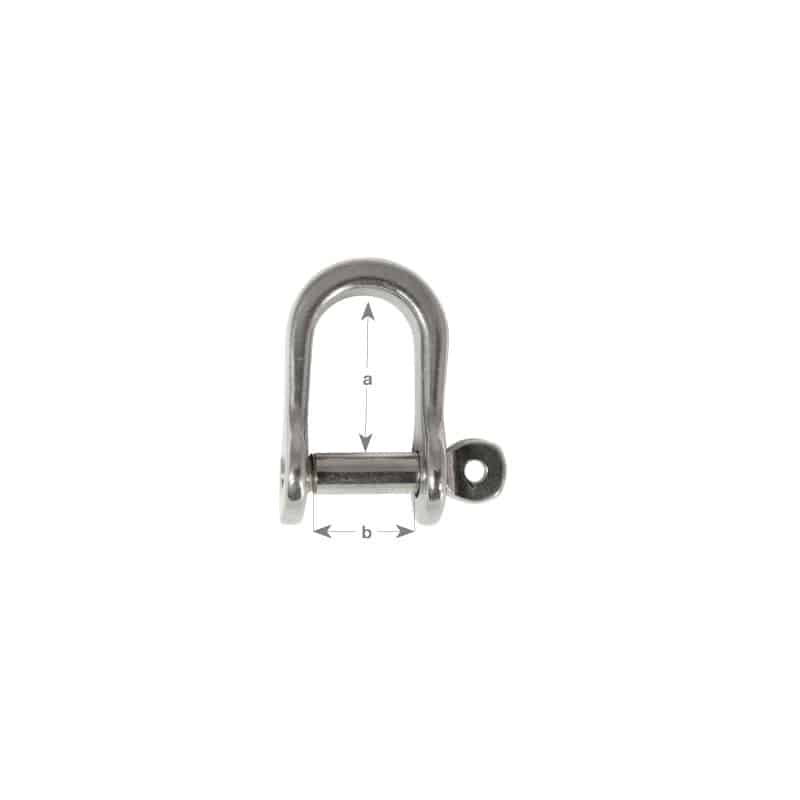 Shackle Dee Pressed G316 S/S 5mm