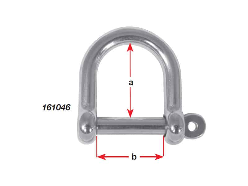 Shackle Dee Wide G316 S/S 6mm