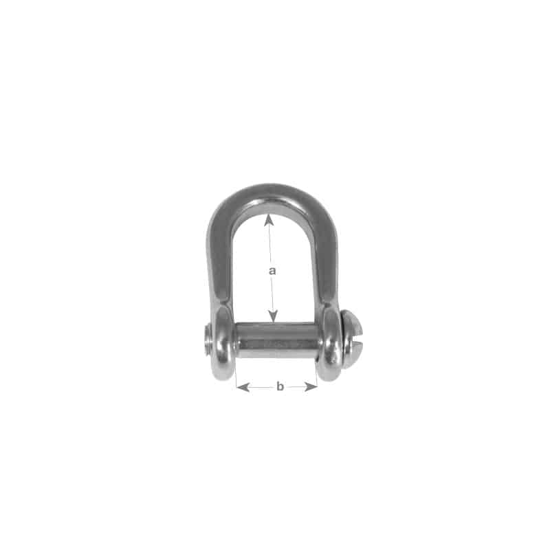 Shackle Dee Slotted Pin G316 S/S 8mm