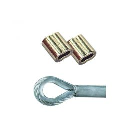 Swage Copper Nickel Plated 4mm