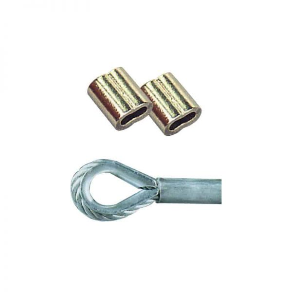 Swage Copper Nickel Plated 5mm