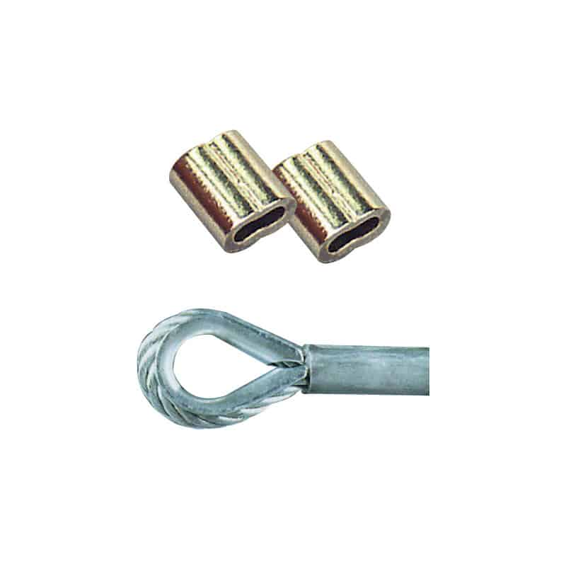 Swage Copper Nickel Plated 6.4mm