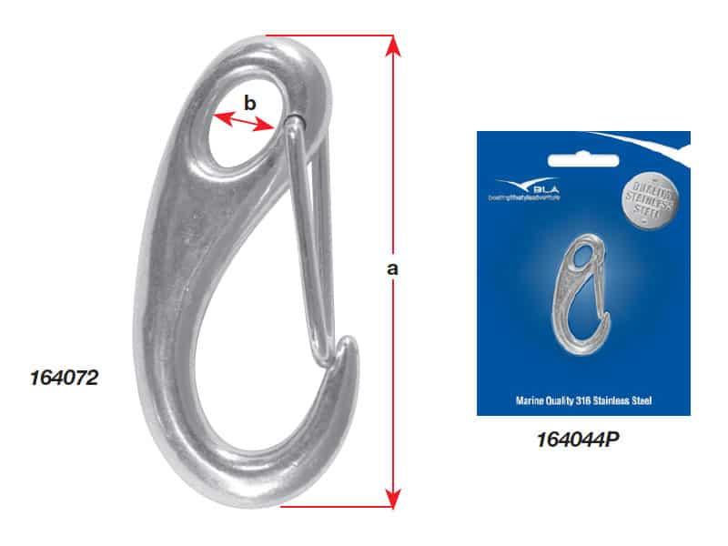 Hook Snap Cast G316 S/S 50mm