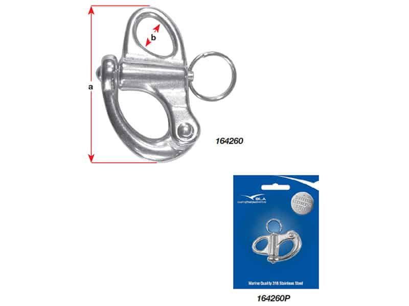 Snap Shackle Fixed Eye G316 S/S 32mm