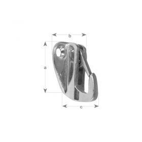 Hook Bulkhead Snap Cast S/S 42 X 29mm