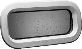 171063 Lewmar Portlight - Atlantic 60 Open Grey Thin Hull Valance 200x600mm