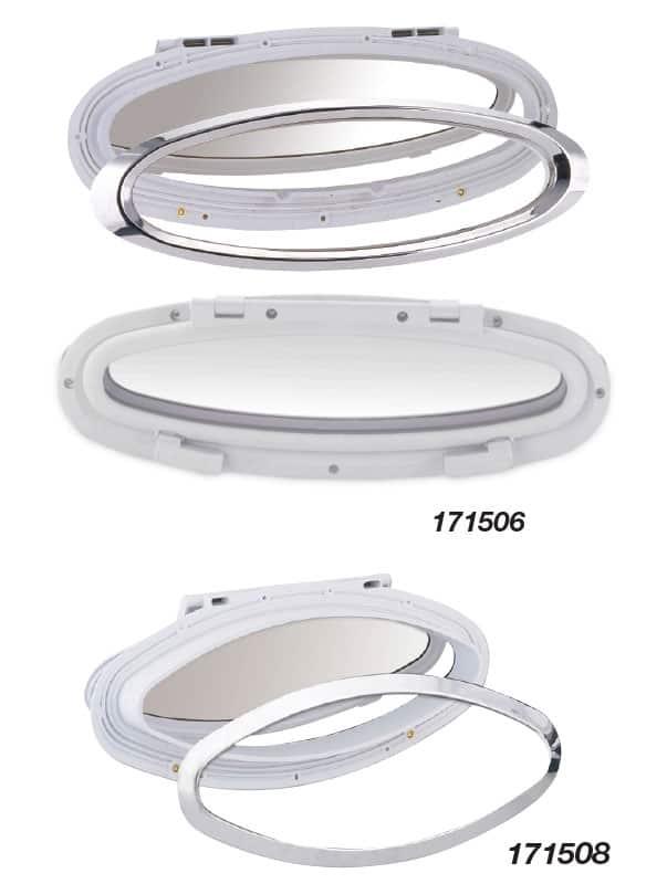 Portlight Open Ellipt White&S/S 77X381 Id