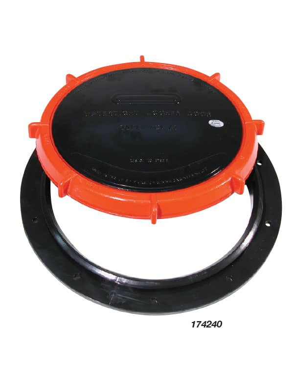Locker Door Watertight Black Lid 180mm