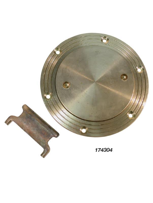 Deck Plate C/W Key Cast Bronze 95mm Id