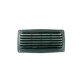 Vent Louvre Plastic Black 200X100mm