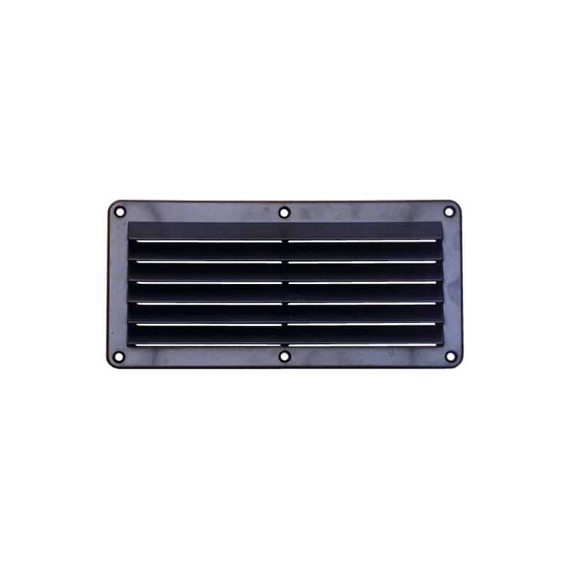 Vent Louvre Plastic Black 258X125mm