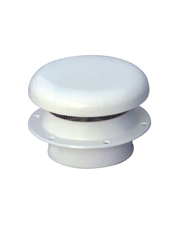 Vent Mushroom Plastic White 148mm Od