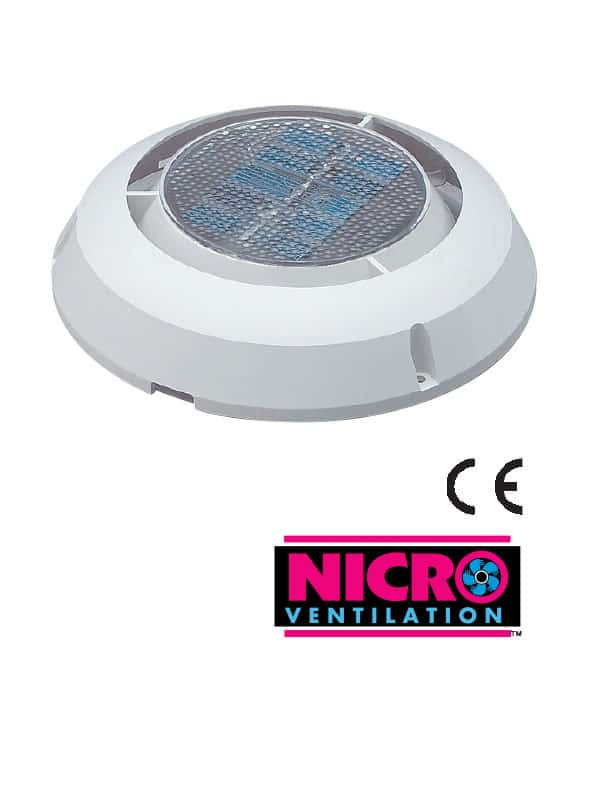 Vent Nicro Minivent 1000 White 78mm Id
