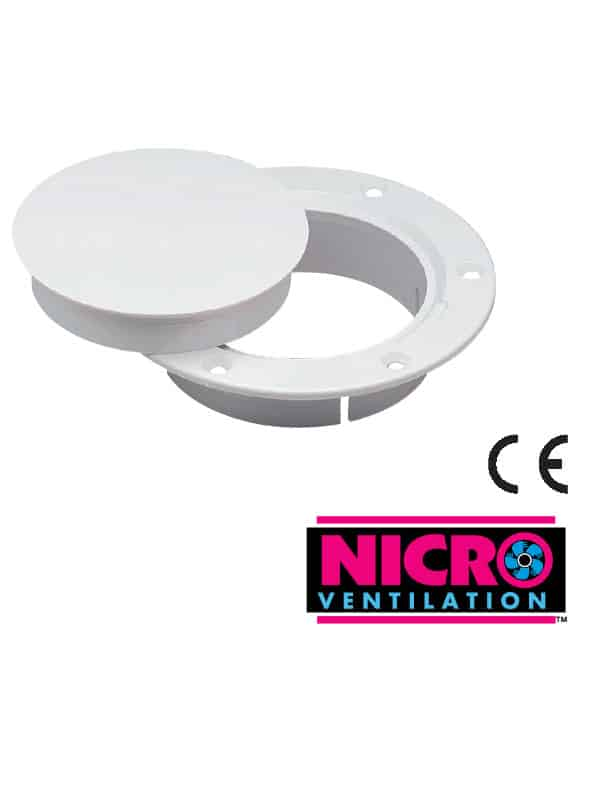 Deck Plate Snap-In Lid 100mm Id