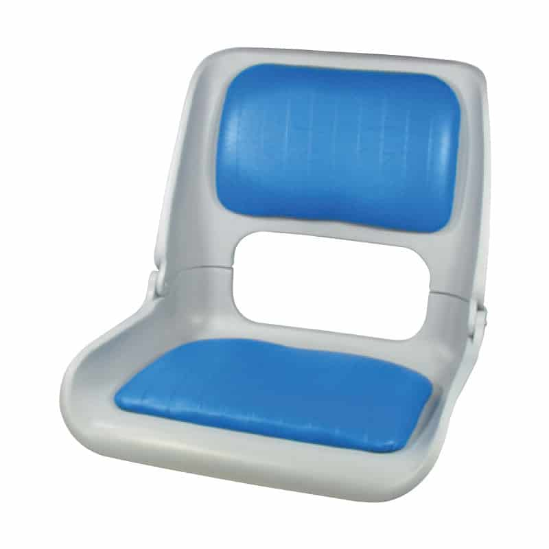 Seat Skipper Shell With Blue Vinyl Pads