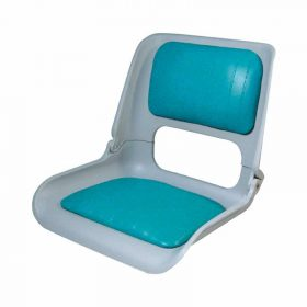 Seat Skipper Shell With Teal Vinyl Pads