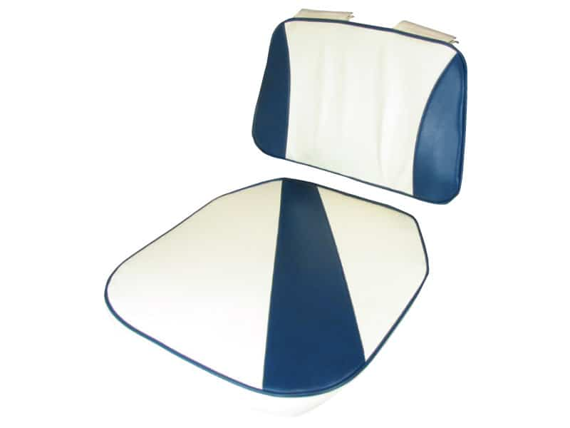 Upholstery Set For Bay Seat Blue White
