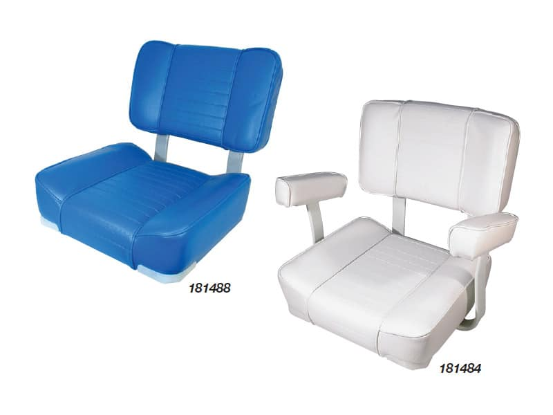 Seat Deluxe Upholstered White No Arms