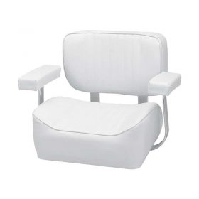 Helm Chair Deluxe With Arm Rests White