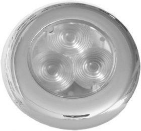 Light 3 X LED White - Stainless Steel 12 Volt