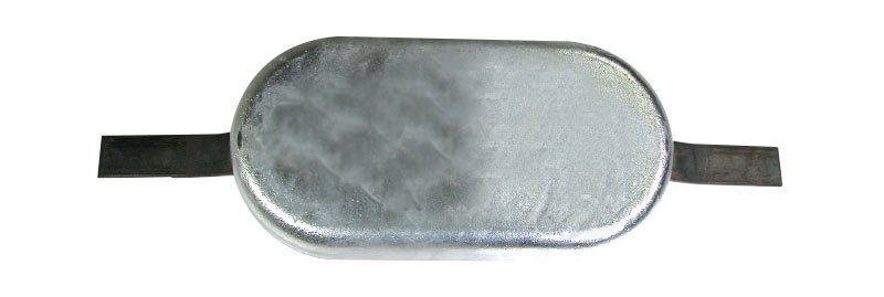 Anode Oval With Strap 150X75X35mm