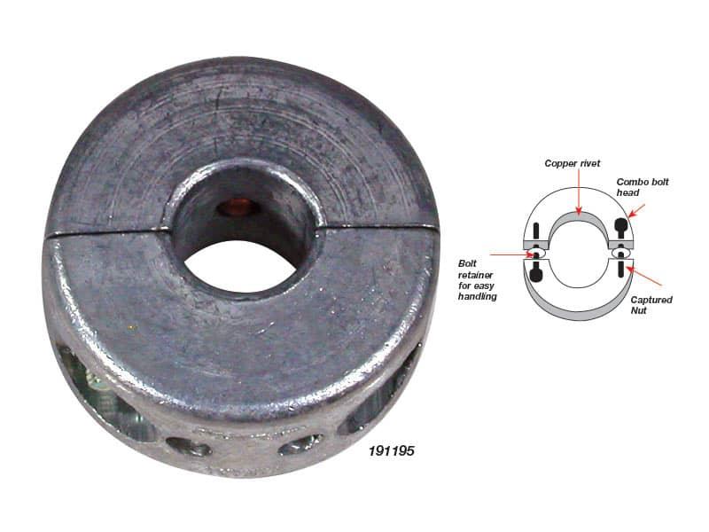 Anode Shaft Thin 3/4-19.0mm Dia