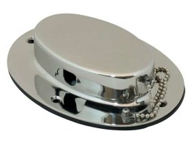 Hawse Hole Oval With Lid S/S 160X115mm 192160