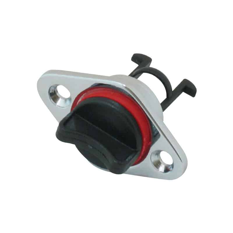 Drain Plug C/P Brass Base 25mm Cut Out