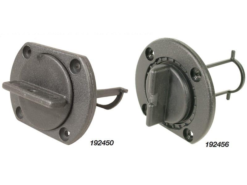 Drain Plug Flat Black Plas 40mm Cut Out