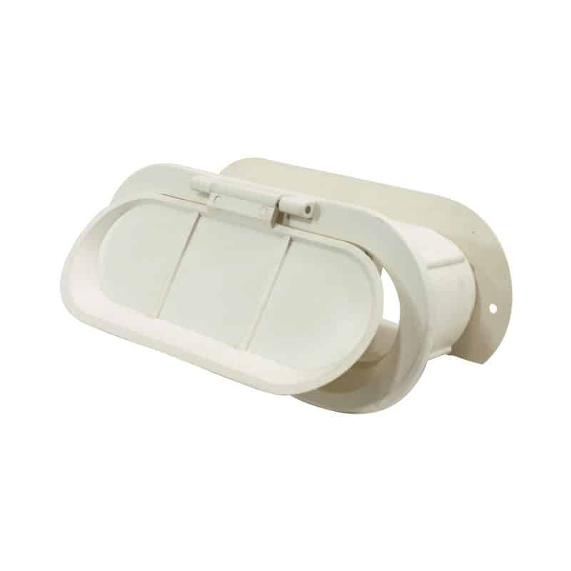Scupper Thru Hull Tele White Plas 182X82mm