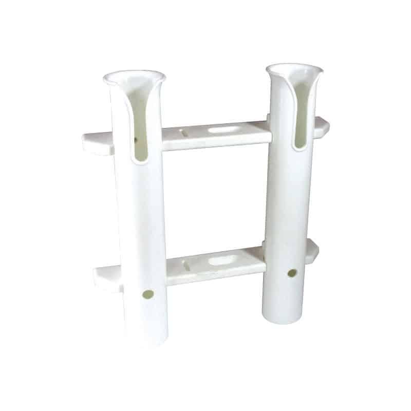 Rod & Knife Holder White Plastic 2 Rods