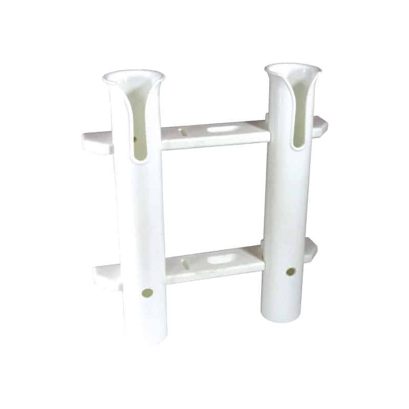 Rod & Knife Holder White Plastic 4 Rods